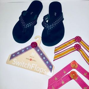 Lindsay Phillips Navy Switchflops & Straps